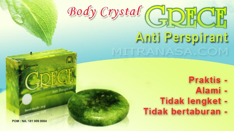 Brosur GRECE Body Crystal Nasa