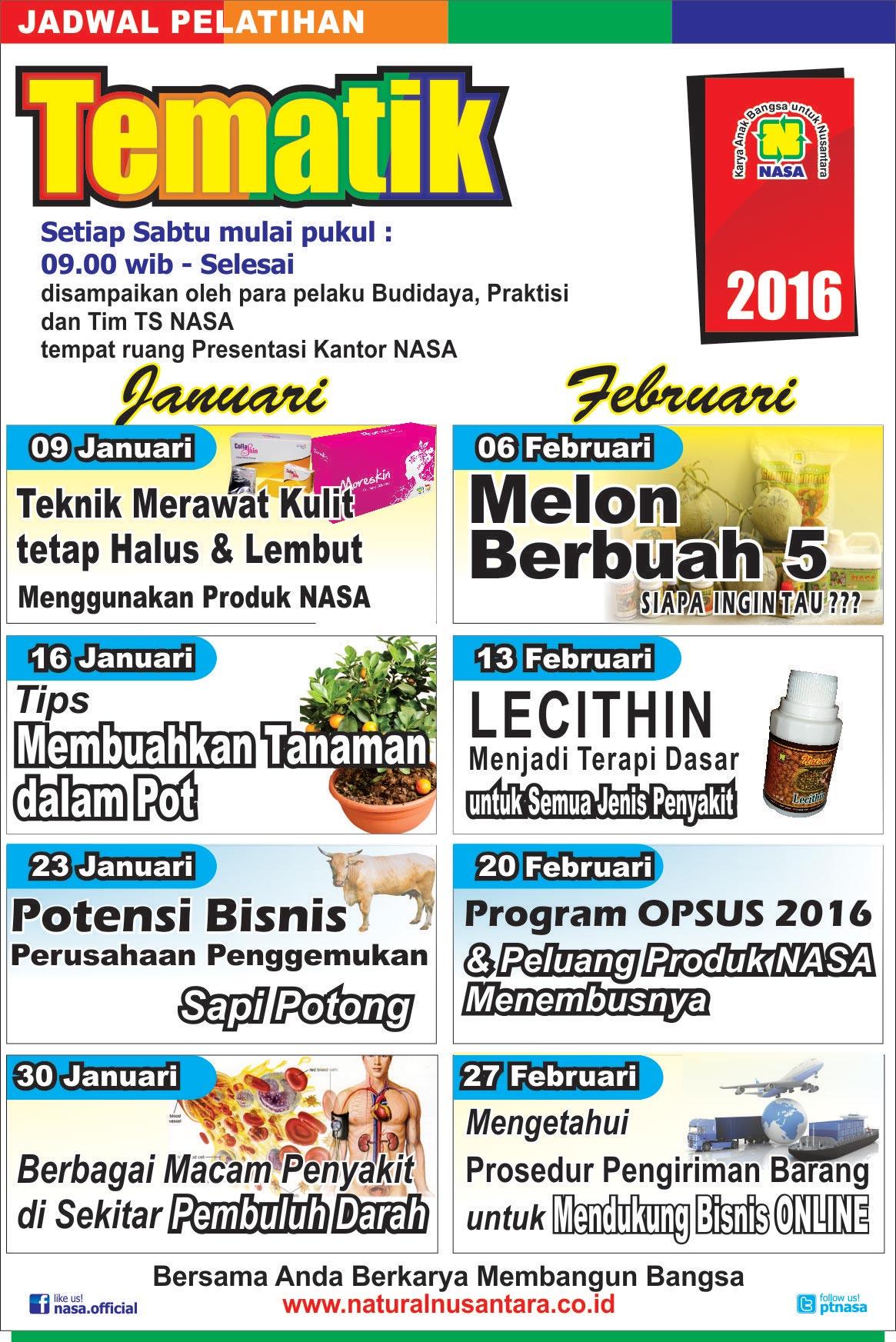 Jadwal Training Tematik 2016