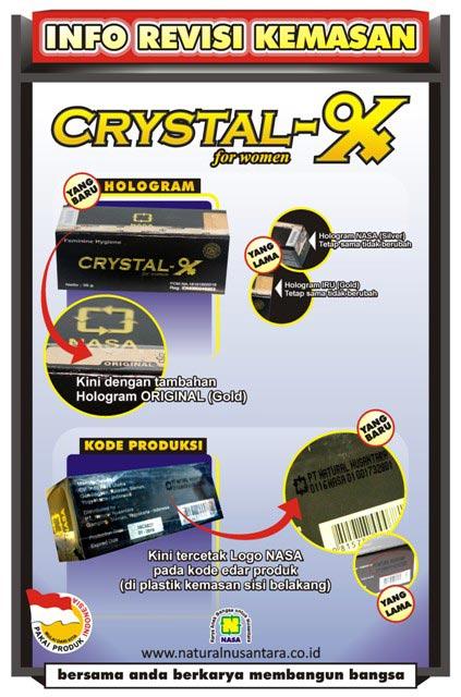 Kemasan Baru Crystal X 2016